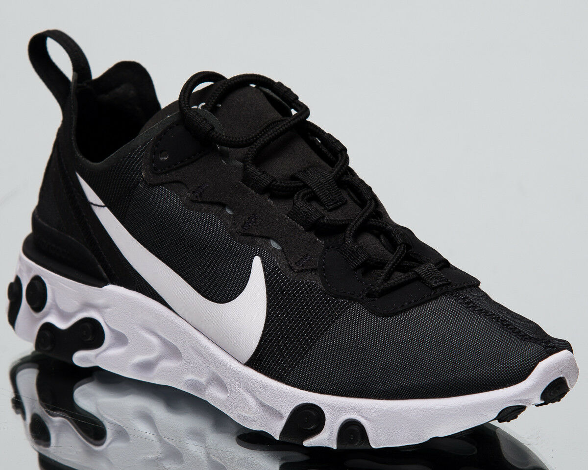 Nike Womens Womens Womens React Element 55 New Lifestyle shoes Black White Sneakers BQ2728-003 5d171a