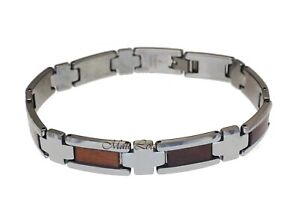 Tungsten-Hawaiian-Koa-Wood-10mm-Men-039-s-Bracelet-9-034
