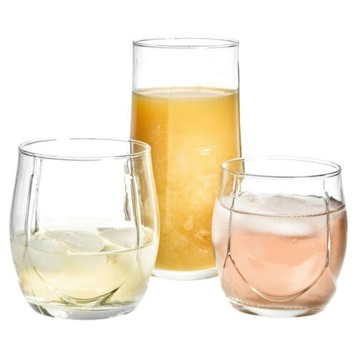 2 Options 18 pcs Buvant Verres Gobelets set whisky soda /& Court Whiskey Verres à eau