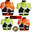 Hi-Viz-Vis-Visibilidad-Dos-Tonos-de-seguridad-para-contratistas-Abrigo-Chaqueta-De-Bombardero miniatura 1