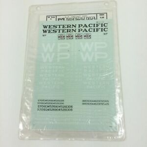 Microscale-Decal-Western-Pacific-WP-Freight-Cars-HO-87-220