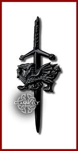 Amical Kilt Pin-celtique Welsh Dragon Emblème Finition Antique-pays De Galles Cymru Cilts-afficher Le Titre D'origine Nous Avons Gagné Les éLoges Des Clients