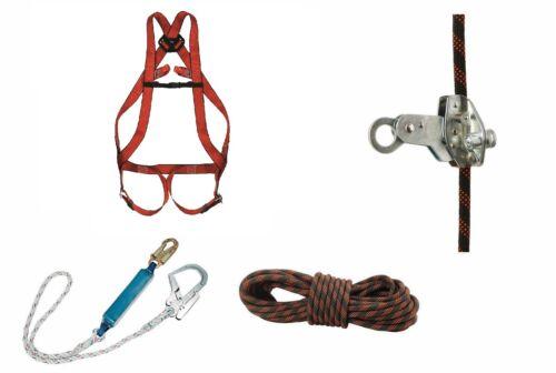 Profi Auffangsystem Auffanggurt Seil 15m Seilbremse Fallschutz Absturzsicherung
