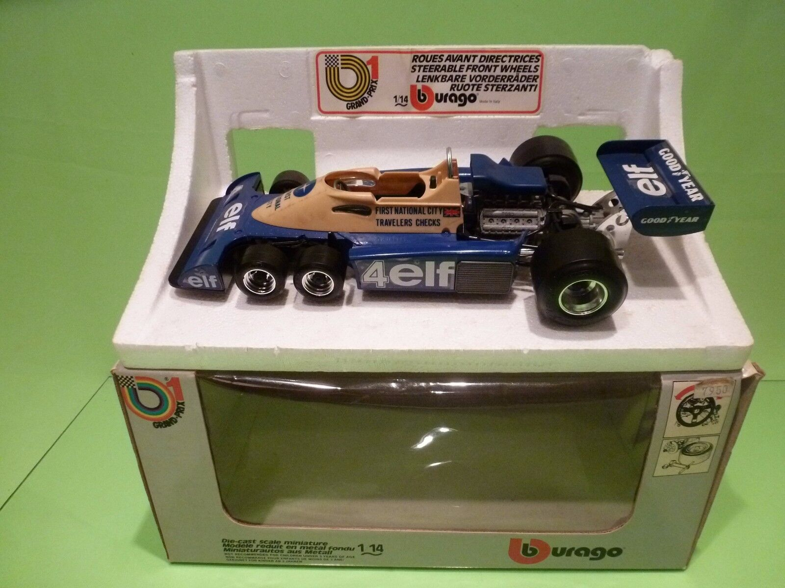BBURAGO GRAND PRIX 1 TYRRELL 6-WHEELER - FIRST NATIONAL CITY - F1 1 14  - GIB