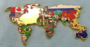 Gold-World-Map-with-Flags-Coin-Earth-One-Race-Love-Atlas-Black-Liver-Matter-Logo