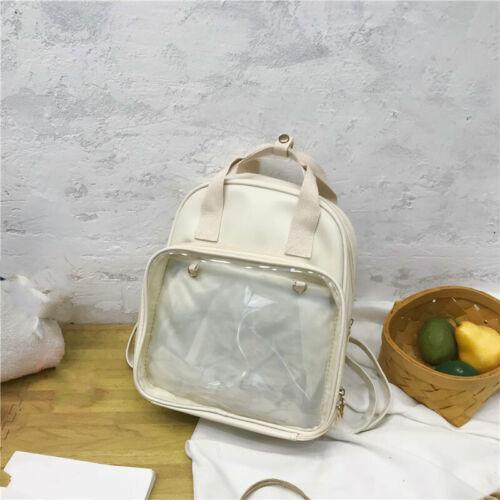 Cute Lolita Girls Ita Bag Transparent Itabag Backpack Handbag Travel School Bag
