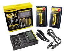 Nitecore D4 Digicharger Universal Charger w/ 2x 3400mAh 18650 & Car Adapter [i4]