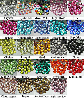288~1440pcs Gava Hotfix Flat back Rhinestones SS30 Multiple Color Crystal