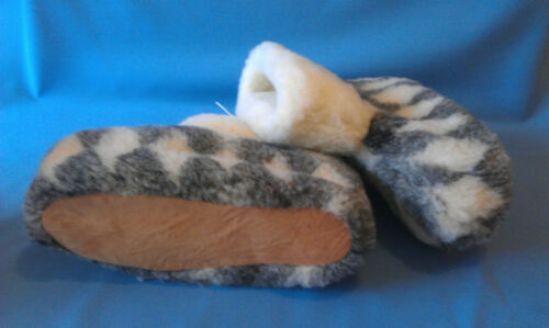 D-3 COZY FOOT Womens Mens 100/%Pure Sheep Wool SLIPPERS Sheepskin Slippers Boots