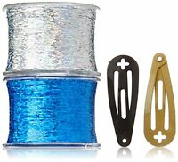 Mia Bling String Hologram Hair Extensions, Blue,1.44 Ounce