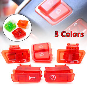 5Pcs-Motorcycle-Handlebar-Horn-Turn-Signal-Light-Control-Switch-Moped-Scooter