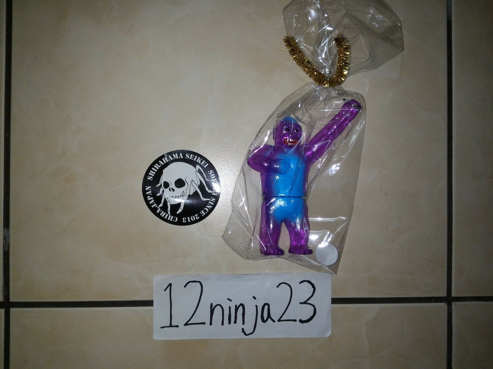 Shirahama Toy x Trash Goodz Clear Purple Mame Gorilla - Sofubi Soft Vinyl Toy
