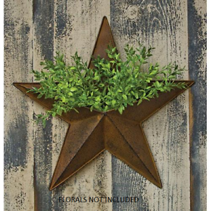 Rustic-Primitive-Rusty-Tin-12-034-Pocket-Barn-Star-home-decor-New