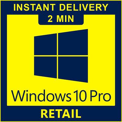 Windows 10 Pro Retail Key 32/64bit Genuine License ...