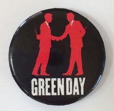 "Vintage 2004 GREEN DAY pinback American Idiot button 1"" pin badge hand shake"
