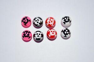 Billes-piercing-UV-8-x-1-6-x-5-mm-Tete-de-Mort-piercings-langue-Nombril-cb340