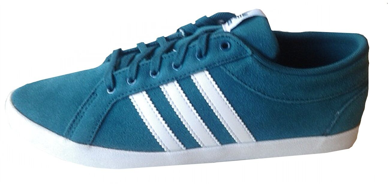 Adidas Womens ADIRA PS Lace up Trainer M19525 TEAL WHITE UK 3.5-7 plimsoll SUEDE