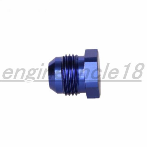 AN3 AN4 AN6 AN8 AN10 AN12 Male Flare Plug Fitting Aluminum AN Plug