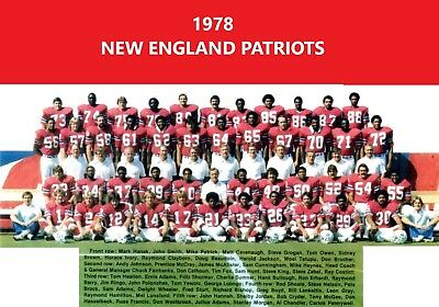 1976 NEW ENGLAND PATRIOTS 8X10 TEAM PHOTO GROGAN ADAMS  FOOTBALL NFL AFL