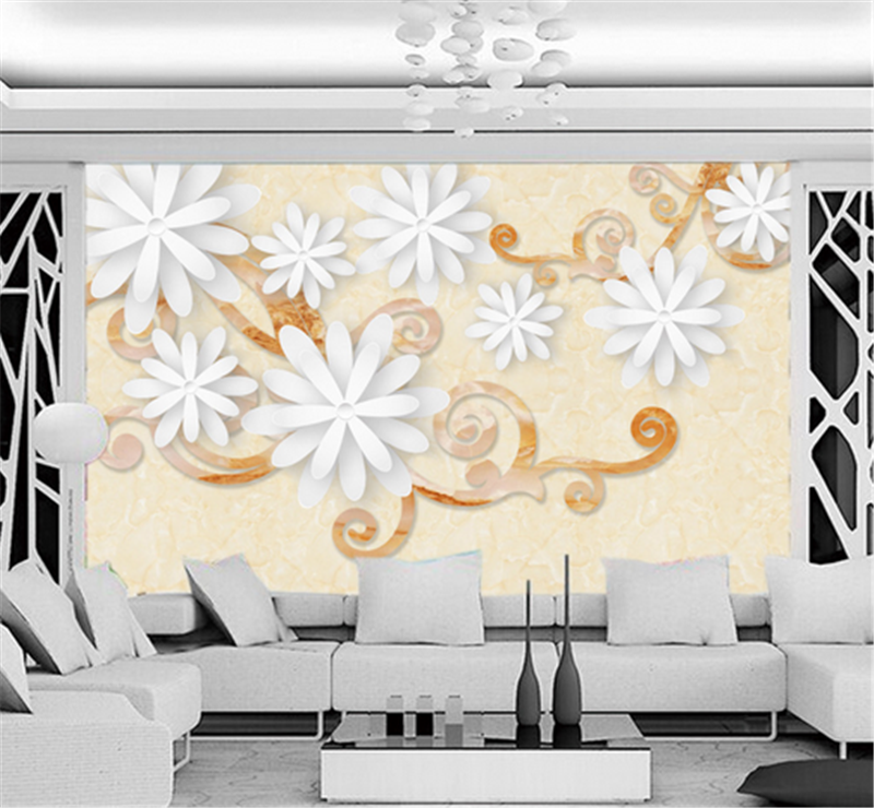3D Weiß Flowers Vines 82 Wallpaper Mural Paper Wall Print Wallpaper Murals UK