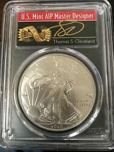 """2020 AMERICAN SILVER EAGLE """"MS 70""""  A """"1 OF 1000"""" AND A """"FIRST STRIKE"""" TOP POP!"""