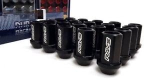 RAYS-Wheels-Black-Locking-Wheel-Nuts-Set-M12x1-25