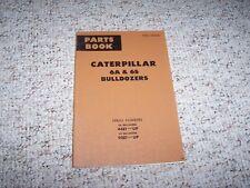 Caterpillar Cat 6A 6S Bulldozer Dozer Parts Catalog Manual 44E1- 95E1-
