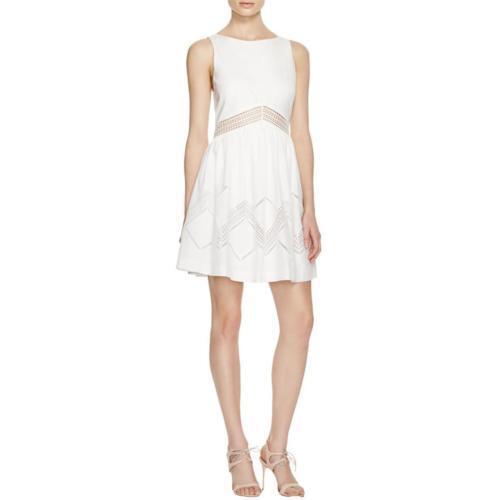 NWT Rebecca Minkoff  damen Tess Dress Weiß Crochet Sun Party Dress sz 6