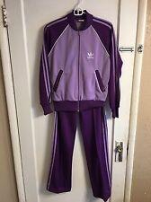 Adidas Originals Women's Tracksuit Jacket Pants Purple Sz S Hip Hop Vtg Retro Y3