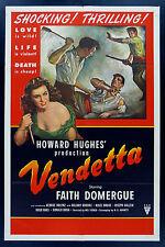 VENDETTA * CineMasterpieces 1SH ORIGINAL MOVIE POSTER FILM NOIR 1950 KNIFE