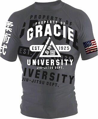 Gracie University BJJ Rash guard Grappling Brazilian Jiu Jitsu MMA UFC Rashguard