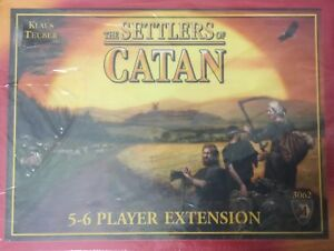 NEW The Settlers of Catan Klaus Teuber Board Game 5-6 Player Ext. 3062 Sealed