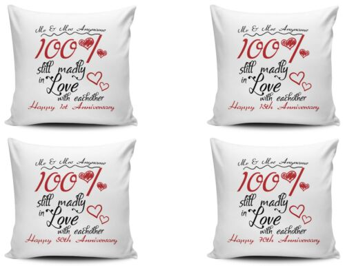 Personalised 100/% Still Madly In Love With Each Other Cushion Cover Variation