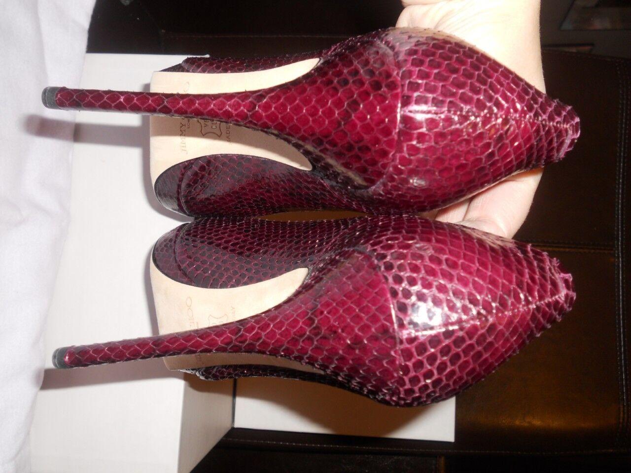 Jimmy Choo EMBER Snakeskin Platform Pumps Pumps Pumps Heels shoes 40.5 EU  895 f239e5