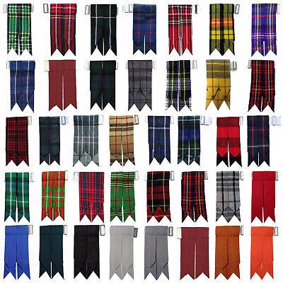 Cc Tinta Unita Nero, Royal Stewart Tartan Molti Altri Kilt Flashes Multi Colori