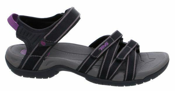 Teva Damen Sandalen damen damen Tirra  Gr  38   schwarz grau Outdoor Sandalen