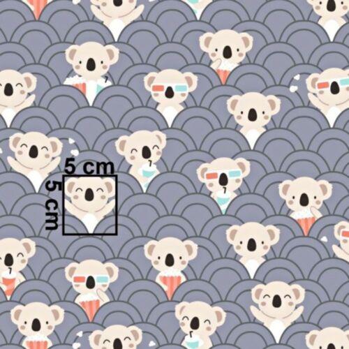 Baumwollstoff Baumwolle Stoff Koala Meterware Kind 160cm breit  7,98€//m