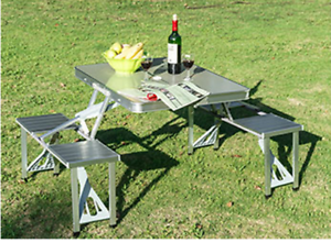 Aluminum-Folding-Camping-Picnic-Table-With-4-Seats-Portable-Set-Outdoor-Garden