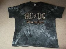 AC/DC Rock Or Bust European Tour 2016 T-shirt Size XL 2-sided With Dates Awesome