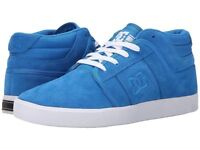 DC Mens Blue or Black Suede RD Grand Mid Trainers Skate Shoes High Top