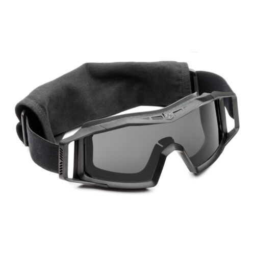 Military Army Airsoftbril Revision Wolfspider Schutzbrille Basic Schwarz Smoke