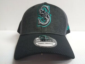 superior quality 68e20 20590 Image is loading Seattle-Mariners-Cap-New-Era-39Thirty-Stretch-Fit-