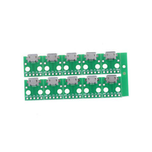 10Pcs Micro USB to DIP Adapter 5pin Female Connector B Type PCB Converter RDR