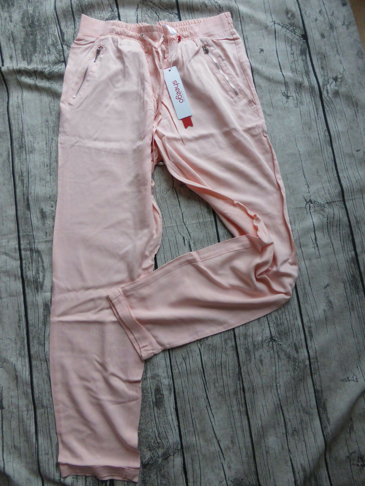 Sheego Viscose Cloth Pants Trousers Baggy Trousers Size 42 - 58 pink (425) NEW