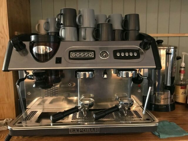 Expobar Commercial 2 Group Coffee Machine Plus Grinder Scales Accessories