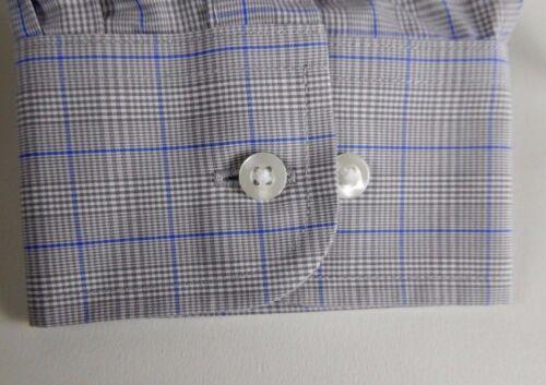 Roundtree /& Yorke Gold Label Non Iron EZ Wash Glen Plaid Dress Shirt NWT $75