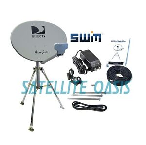directv swim hdtv satellite dish tripod kit for rv mobile. Black Bedroom Furniture Sets. Home Design Ideas