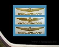 Wing Decals For Honda Goldwing Motorcycle Rider (set Of 3) 12 Inch, Gw-12