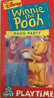 Winnie the Pooh-Pooh Party-VHS Video Tape-TESTED-RARE VINTAGE-SHIPS N 24 HOURS