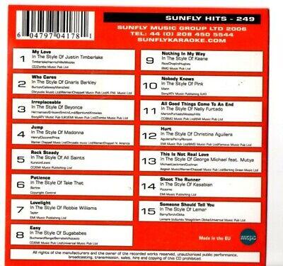 Karaoke Cdgs, Dvds & Media Sunfly Karaoke Hits Volume 249 15 Massive Hits Cdg249 Rapid Heat Dissipation Karaoke Entertainment